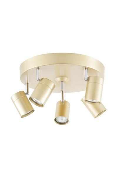Deckenstrahler Correct in Gold, Baldachin: Metall, beschichtet, Goldfarben, Ø 30 x H 14 cm