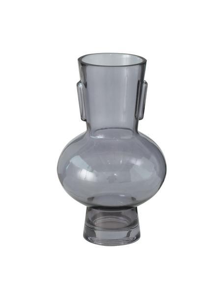 Glazen vaas Olympia, Glas, Donkergrijs, Ø 14 x H 22 cm