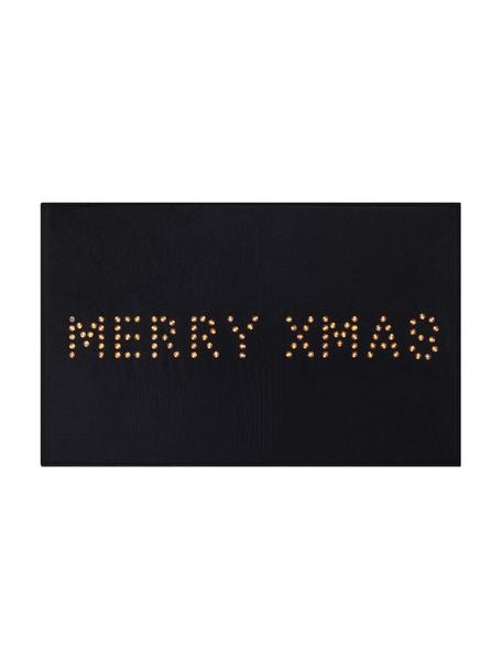 Zerbino natalizio luminoso Lysa, Materiale sintetico, Nero, Larg. 80 x Alt. 50 cm
