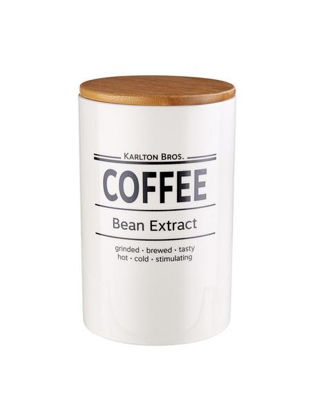 Aufbewahrungsdose Karlton Bros. Coffee, Ø 11 x H 18 cm, Porzellan, Weiß, Schwarz, Braun, Ø 11 x H 18 cm