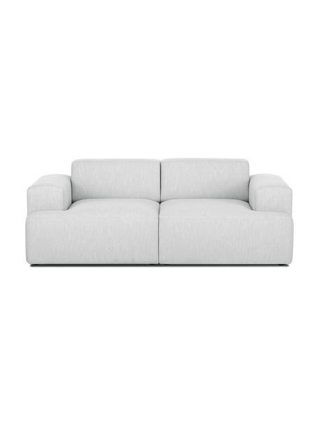 Sofa Melva (2-Sitzer) in Hellgrau, Bezug: Polyester Der hochwertige, Gestell: Massives Kiefernholz, Spa, Füße: Kiefernholz, Webstoff Hellgrau, B 200 x T 101 cm