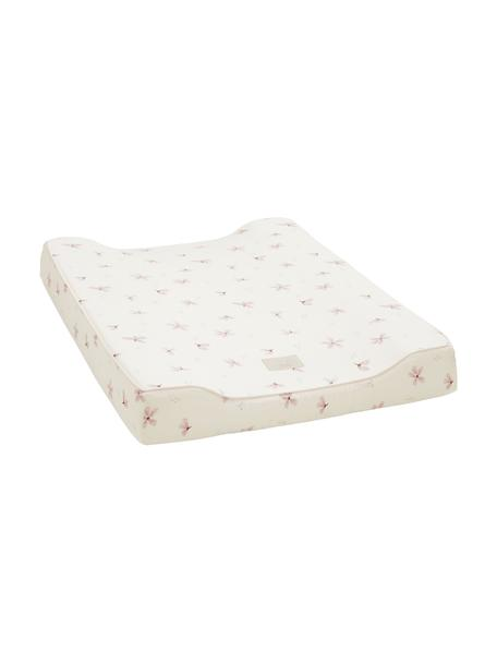 Colchón cambiador de algodón ecológico Wildflower, Funda: 100%algodón ecológico, c, Crema, rosa, An 50 x L 65 cm