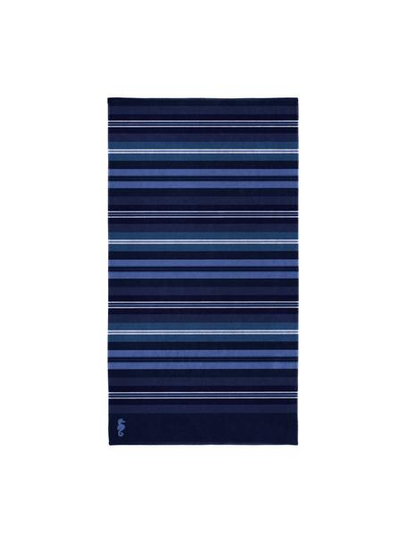 Strandlaken Hampton, Fluweel (katoen) middelzware stofkwaliteit, 420g/m², Blauwtinten, 100 x 180 cm