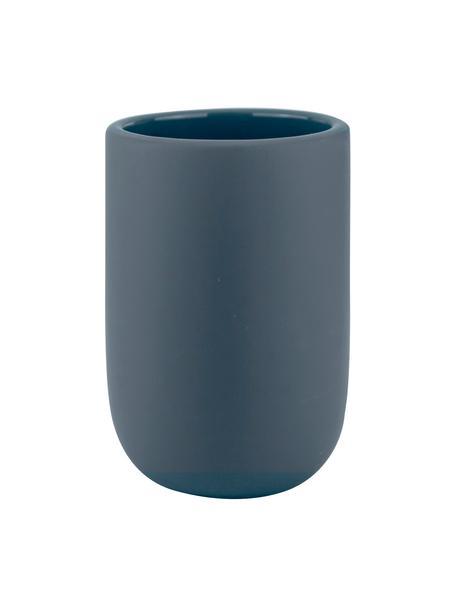 Vaso cepillo de dientes Lotus, Cerámica, Azul, Ø 7 x Al 10 cm