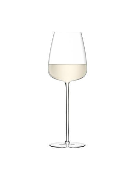 Mundgeblasene Weißweingläser Wine Culture, 2 Stück, Glas, Transparent, Ø 9 x H 26 cm