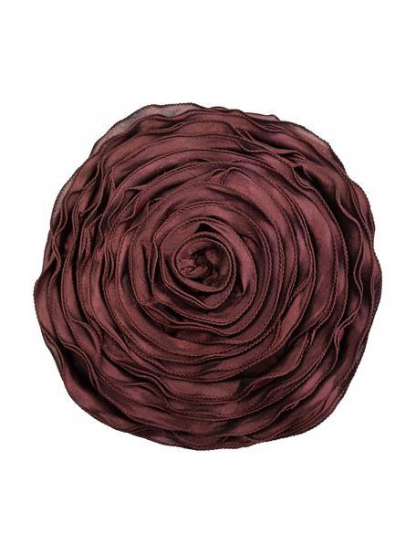 Kissen Bella in Rosenform, mit Inlett, Rot, Ø 40 cm