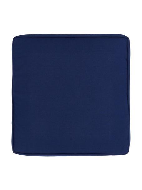 Sitzkissen Zoey in Dunkelblau, Bezug: 100% Baumwolle, Blau, 40 x 40 cm