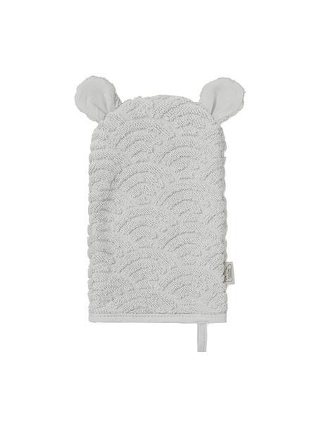 Waschlappen Wave aus Bio-Baumwolle, 100% Biobaumwolle, Grau, 15 x 22 cm