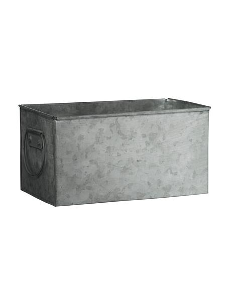 Großer Übertopf Zintly aus Metall, Metall, verzinkt, Zink, 17 x 9 cm