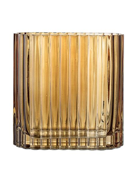 Kleine glazen vaas Don, Glas, Bruin, transparant, 14 x 14 cm
