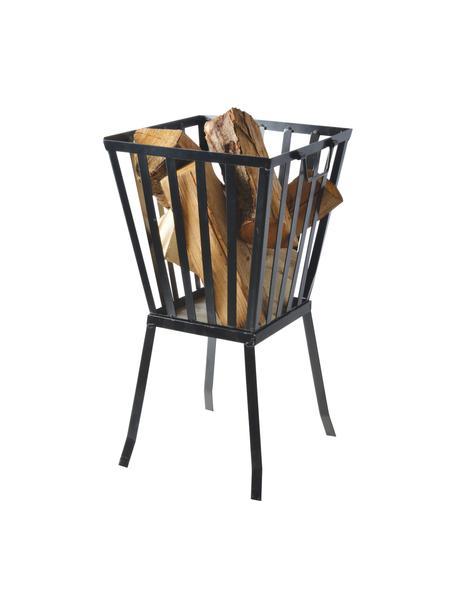 Braciere nero Quare, Metallo rivestito, Nero, Larg. 33 x Alt. 58 cm