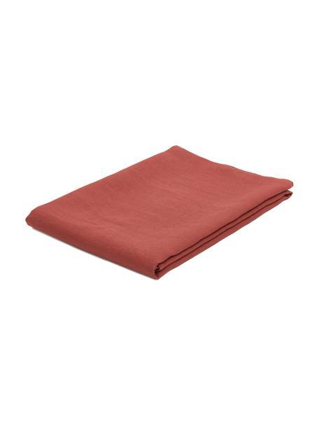 Leinen-Tischdecke Heddie in Rot, 100% Leinen, Rot, 145 x 200 cm