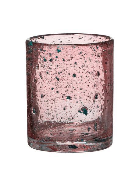 Teelichthalter Mina, Glas, Pink, Ø 11 x H 12 cm