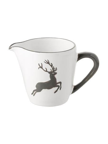Handbemalter Milchgießer Gourmet Grauer Hirsch, 200 ml, Keramik, Grau,Weiß, 200 ml