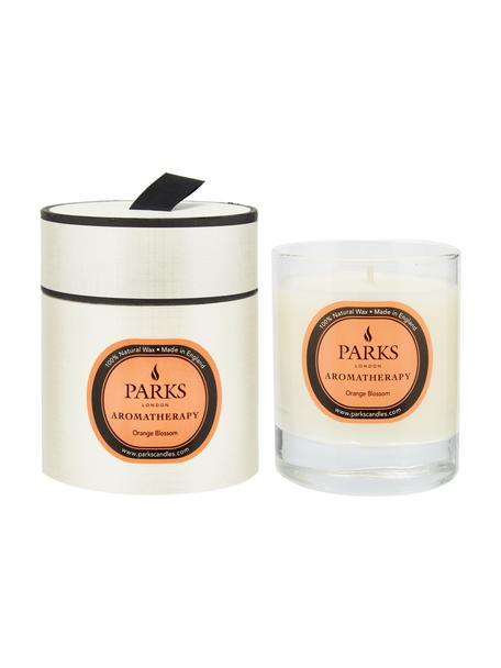 Vela perfumada Aromatherapy (flor de naranja), Recipiente: cristal, Transparente, blanco, melocotón, Ø 8 x Al 9 cm