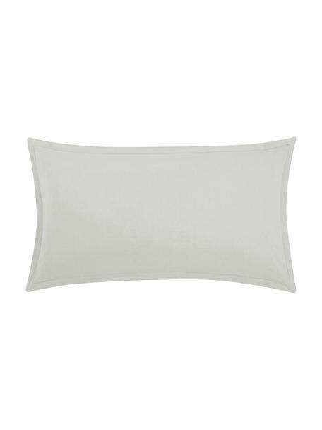 Poszewka na poduszkę z lnu z efektem sprania Nature, 2 szt., Jasny szary, S 40 x D 80 cm