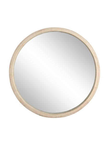 Espejo de pared Tiziano, Reverso: tablero de fibras de dens, Beige, Ø 52 cm