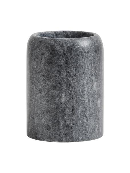 Tandenborstelbeker Aggaz, Marmer, Gemarmerd grijs, Ø 8 x H 10 cm