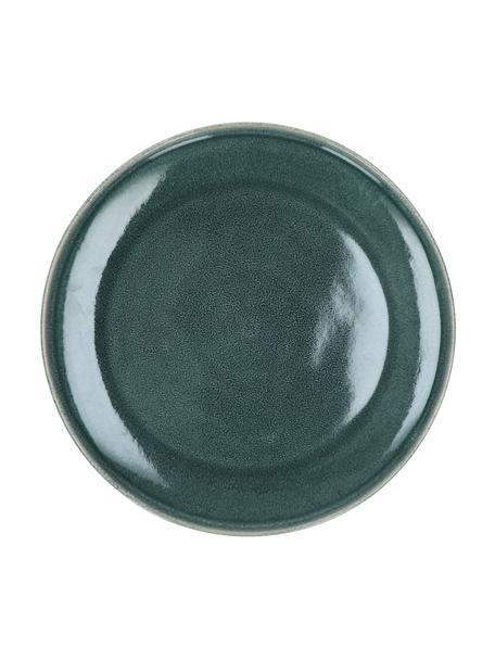Speiseteller Audrey in Graugrün, 2 Stück, Steingut, Graugrün, Ø 28 cm