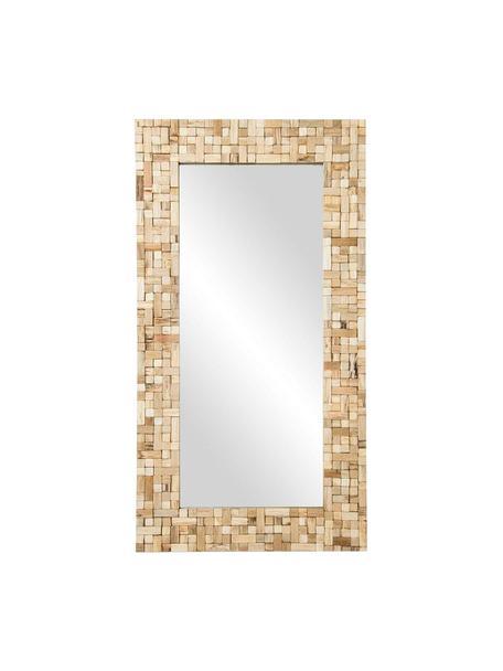 Espejo de pared Tiles, Espejo: cristal, Marrón, An 83 x Al 157 cm