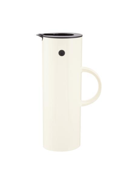 Brocca isotermica in bianco crema lucido EM77, 1 L, Plastica ABS, interno con inserto in vetro, Bianco crema lucido, 1 l