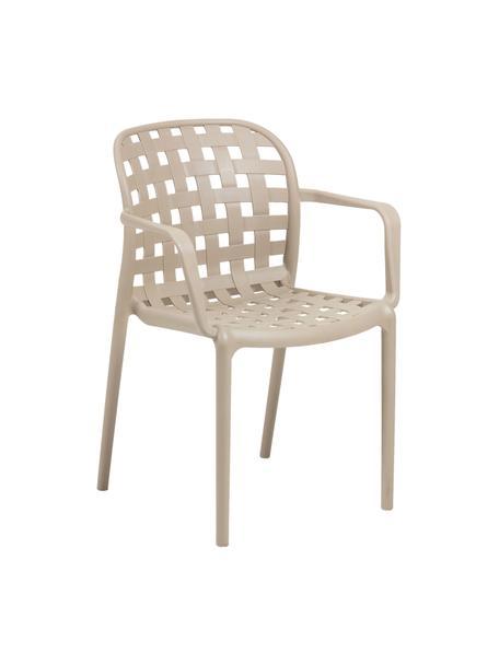 Stapelbare Gartenstühle Isa aus Kunststoff, 2 Stück, Kunststoff, Beige, B 58 x T 58 cm