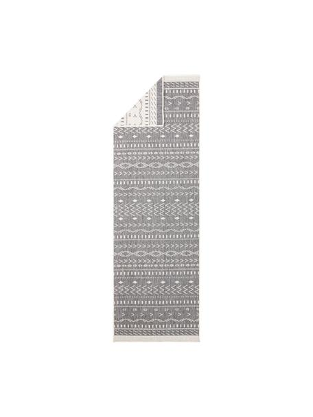 Alfombra reversible de interior/exterior Kuba, Gris, crema, An 80 x L 250 cm