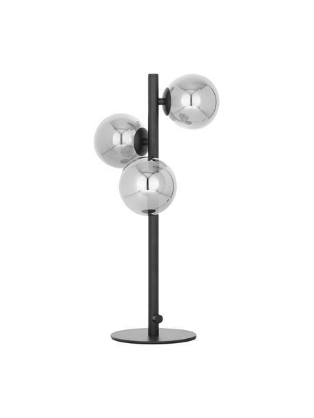 Lámpara de mesa Molekyl, Pantalla: vidrio, Cable: plástico, Negro, gris, Ø 22 x Al 46 cm