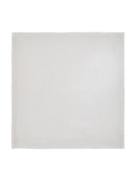Servilletas de tela Finca, 2uds., Algodón, Gris, An 42 x L 42 cm