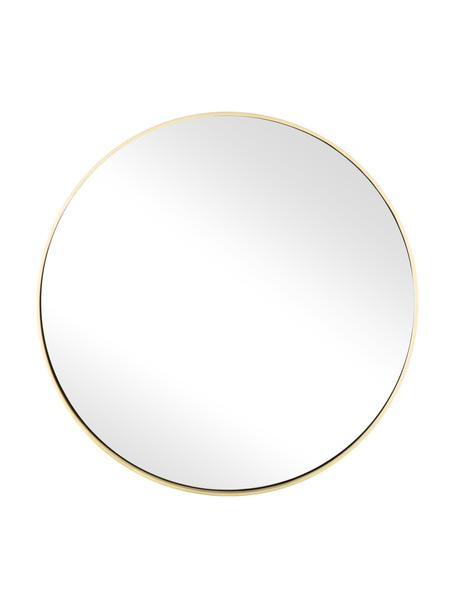 Ronde wandspiegel Ada met goudkleurige lijst, Lijst: vermessingd ijzer, Geborsteld messingkleurig, Ø 40 cm