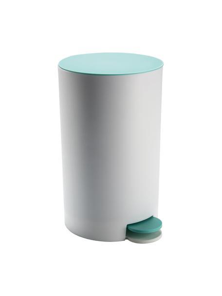 Abfalleimer Anton mit Pedalfunktion, Kunststoff, Salbeigrün, Weiß, 16 x 26 cm