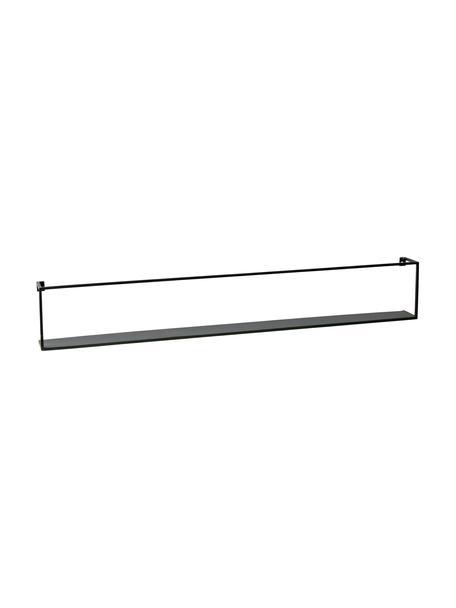 Metall-Wandregal Meert in Schwarz, Metall, beschichtet, Schwarz, 100 x 16 cm