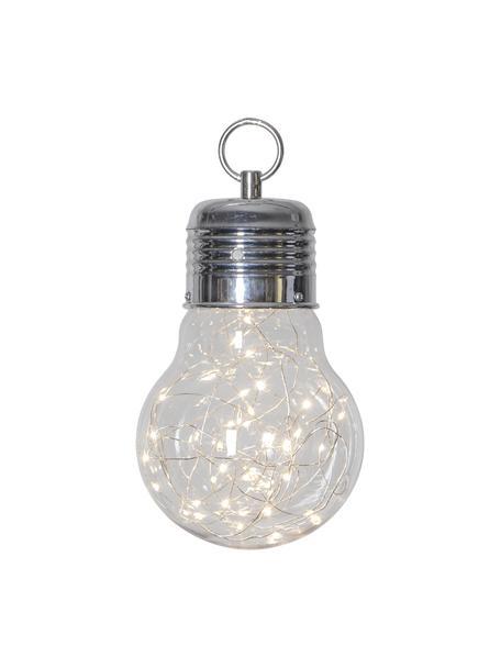 Mobilna lampa wisząca z timerem Bulby, Transparentny, Ø 15 x W 24 cm