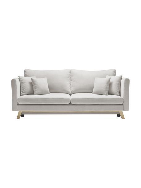 Sofa z funkcją spania Triplo (3-osobowa), Tapicerka: poliester, Nogi: drewno naturalne, Beżowy, S 216 x W 95 cm
