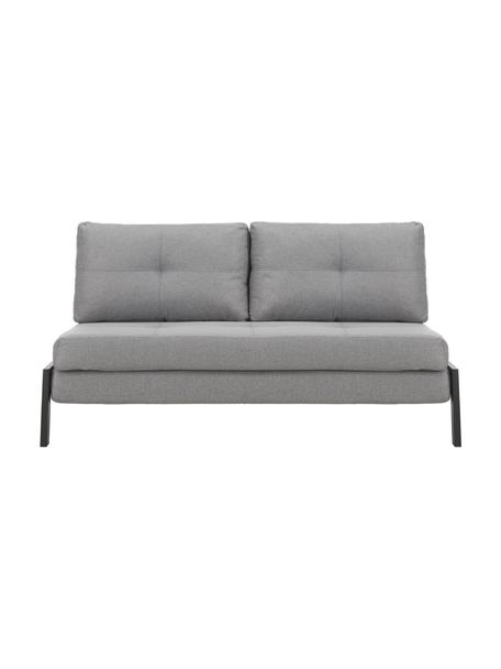 Sofa z funkcją spania z metalowymi nogami Edward, Tapicerka: 100% poliester 40000 cyk, Jasny szary, S 152 x G 96 cm