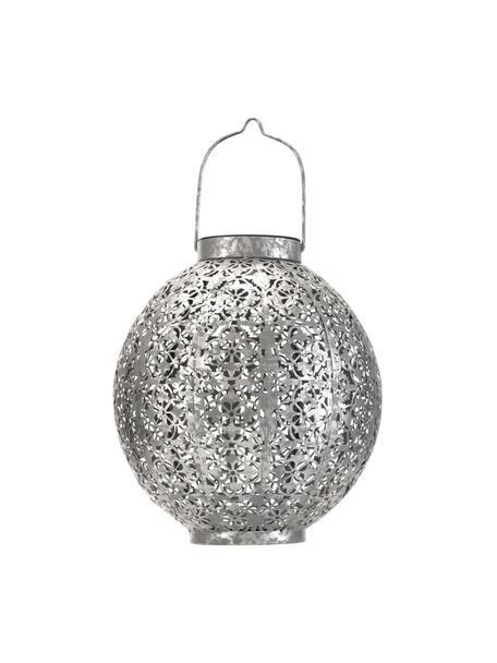Outdoor solar lamp Aura om op te hangen of te zetten, Lamp: metaal, Zilverkleurig, Ø 21 x H 25 cm