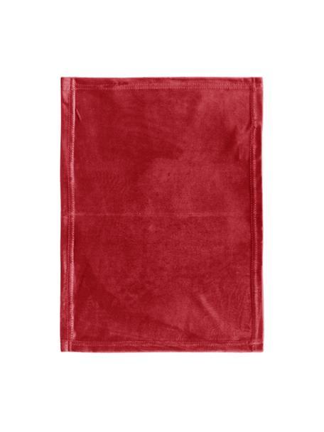 Manteles individuales de terciopelo Simone, 2uds., 100%terciopelo de poliéster, Rojo, An 35 x L 45 cm
