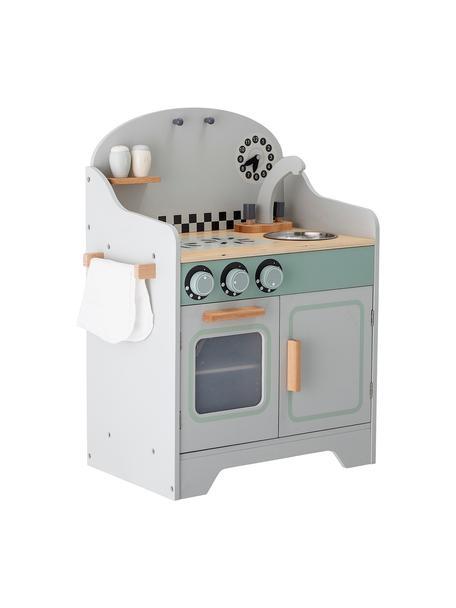 Spielzeug-Küche Minicook, Mitteldichte Holzfaserplatte (MDF), Lotusholz, beschichtet, Grau, Mehrfarbig, 43 x 58 cm