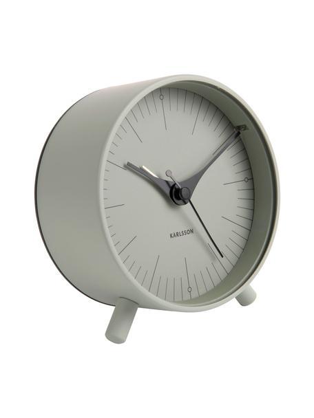 Wecker Index, Metall, beschichtet, Schwarz, Grün, Ø 11 cm
