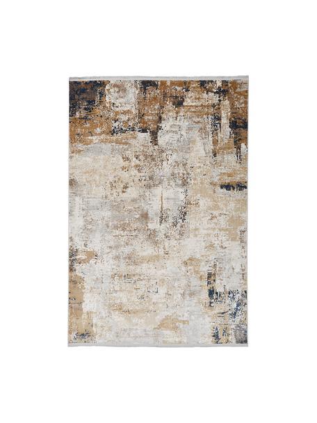 Tappeto con motivo astratto Verona, Retro: poliestere, Crema, beige, grigio, marrone, blu scuro, Larg. 130 x Lung. 190 cm (taglia S)