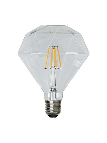 E27 peertje, 3 watt, warmwit, 1 stuk, Peertje: glas, Fitting: nikkel, Transparant, Ø 12 x H 13 cm