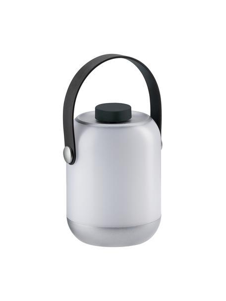 Mobile Dimmbare Außentischlampe Clutch, Lampenschirm: Kunststoff, Griff: Kunststoff, Weiß, Grau, Ø 9 cm