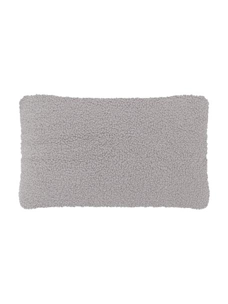 Federa arredo in teddy grigio chiaro Mille, Retro: 100% poliestere (teddy), Grigio chiaro, Larg. 30 x Lung. 50 cm