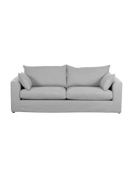 Sofa Zach (3-Sitzer) in Grau, Bezug: Polypropylen Der hochwert, Füße: Kunststoff, Webstoff Grau, B 231 x T 90 cm