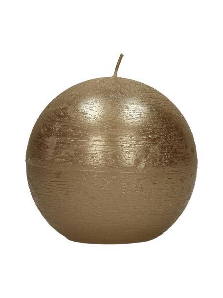 Świeca Ergene, 80% parafina, 20% wosk palmowy, Odcienie szampańskiego, Ø 9 x W 9 cm