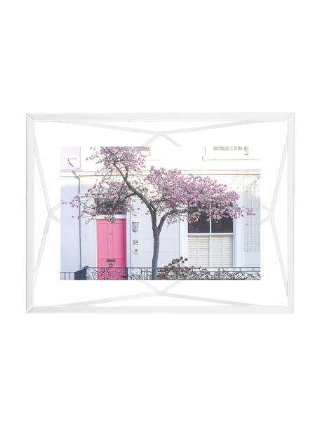 Bilderrahmen Prisma, Rahmen: Stahl, Front: Glas, Weiß, 10 x 15 cm