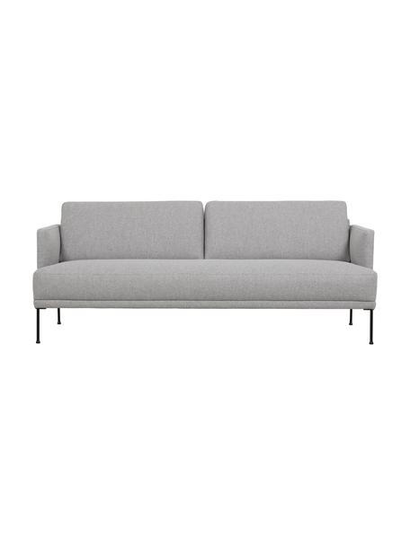 Sofa Fluente (3-Sitzer) in Hellgrau mit Metall-Füssen, Bezug: 80% Polyester, 20% Ramie , Gestell: Massives Kiefernholz, Webstoff Hellgrau, B 196 x T 85 cm