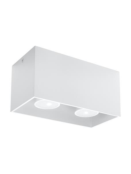 Lampa sufitowa Geo, Aluminium, Biały, S 20 x W 10 cm