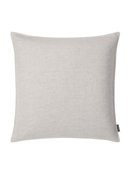 Federa arredo in lino lavato grigio argento Sven, 100% lino, Grigio argento, Larg. 60 x Lung. 60 cm
