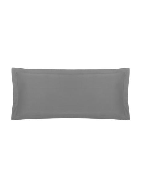 Funda de almohada de satén Premium, Gris oscuro, An 45 x L 110 cm